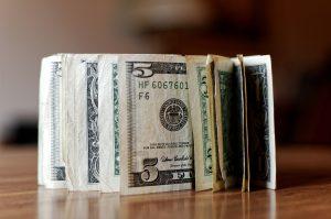 Restaurant tip money