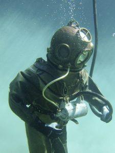 Photo of a deep sea diver symbolizing a deep dive into the law